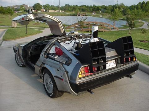 regreso al futuro delorean