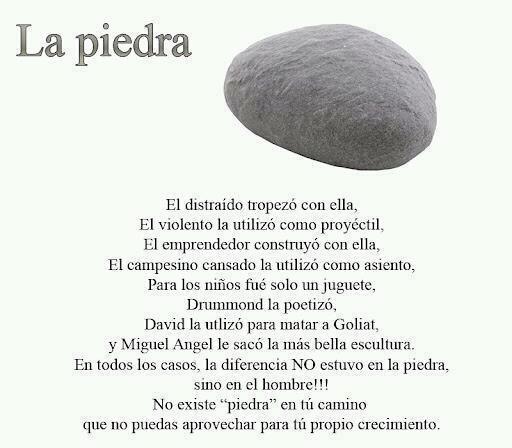 Reflexiones sobre una piedra